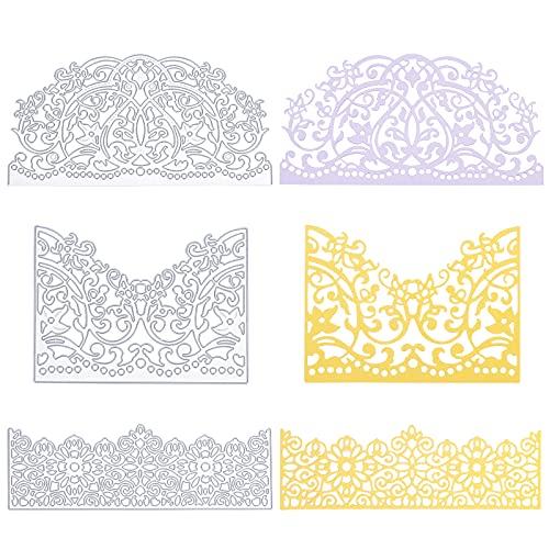 GLOBLELAND 3Pcs Troqueles de Flores de Metal Troqueles de Corte de Tarjetas de Encaje para...