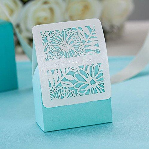 50/100corte láser caramelo cajas de regalo boda Regalos bebé ducha fiesta Decors
