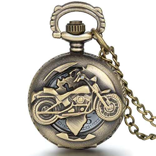 Reloj de Bolsillo para Hombre, Estilo Vintage, con diseño de Motocicleta, de JewelryWe -...