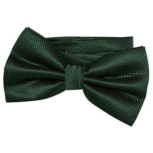 DonDon Pajarita para hombre de 12 x 6 cm ajustable y lista para usar - verde oscuro