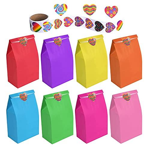flintronic Bolsas de Regalo, 50 pcs Bolsa de Papel Kraft Bolsas de Papel en 10 Colores (+...