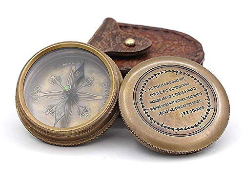 Brújula de bolsillo de latón - Tipo de reloj Compass & Case