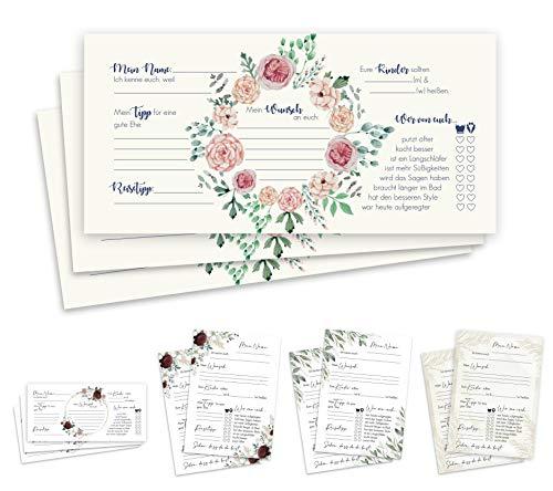 Tarjetas de invitado de aire y amor, 50 tarjetas de invitados, tamaño DIN largo,...