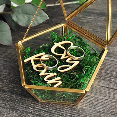 Caja geométrica del anillo del terrario,Caja del anillo de boda de vidrio,Caja de...