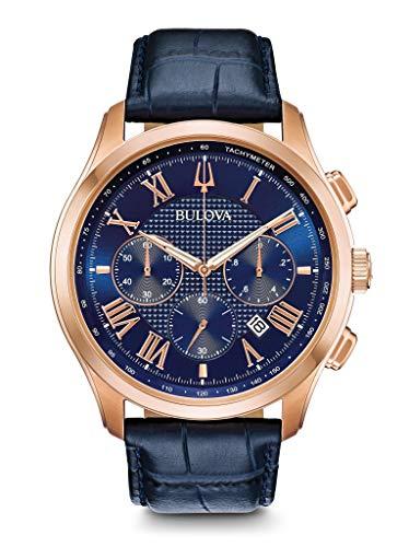 Bulova Reloj Cronógrafo para Hombre de Cuarzo con Correa en Cuero 97B170