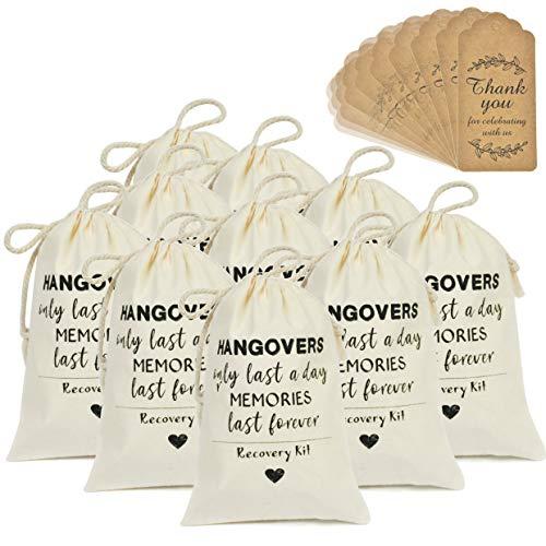 DÉCOCO 10 Bolsas (4 'x 6' ') y Etiquetas de Regalo Bolsas de Resaca Bolsas de algodón...