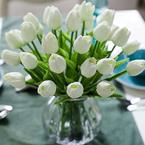 Veryhome 10 unids Tulipanes Artificiales Tulipanes Flores Reales Falsas para la...