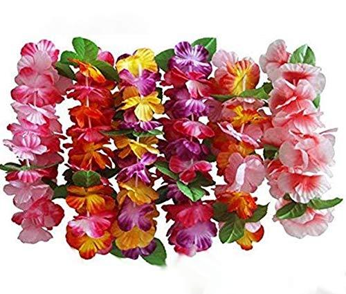 InnoBase Flores Hawaiana Venda Guirnalda Collar Leis Flores decoración Accesorios para la...