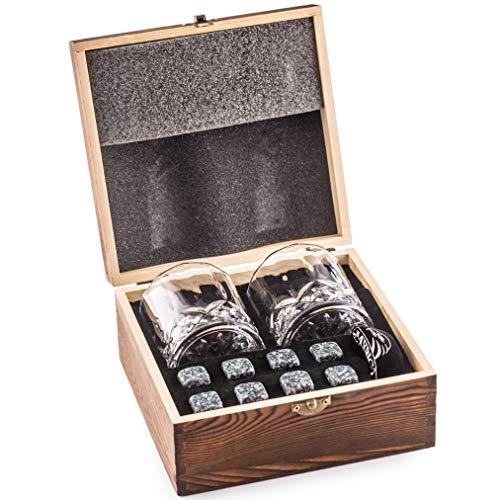 Whisky Piedras Set de Regalo y 2 Vasos de Whisky - Sea Diferente a la Hora de Elegir un...