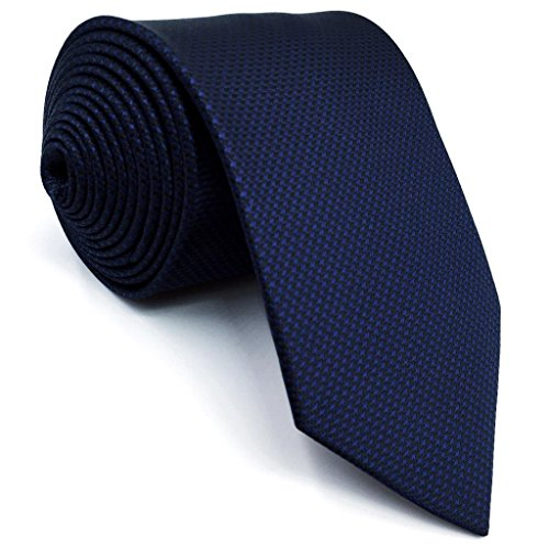 shlax&wing S&W Seide Ties Herren Krawatte Pack Navy Dark Azul Color Sólido Dünne 6cm