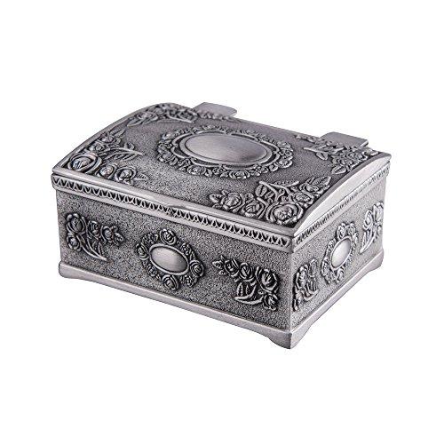 Feyarl Pequeña caja de joyería vintage pequeña caja de tesoro caja de joyería...