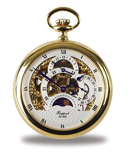 Rapport Reloj de bolsillo dorado con cara abierta de Londres