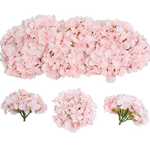 Tifuly 12 Pcs Hortensias Artificiales, Hortensias de Seda Cabezas de Flores con Tallos...