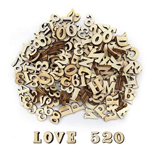 200 letras de madera pequeñas 1,5 cm