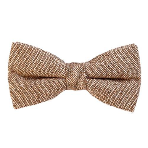 DonDon Pajarita de algodón para hombre de 12 x 6 cm ajustable y lista para usar - marrón...