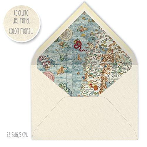 sobres forrados invitaciones de boda CLASICO MARFIL 22,5x16,5 cm VARIADOS: VINTAGE,...