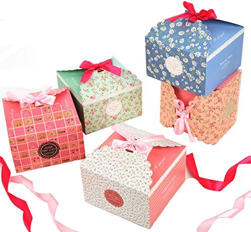 Cajas Galletas,Fashionbabies Cajas de regalo, conjunto de 15 cajas de convites decorativos...