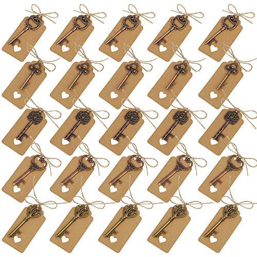 Clave Abrebotellas Varios Style Vintage Skeleton Claves con Etiquetas de Tarjeta para...