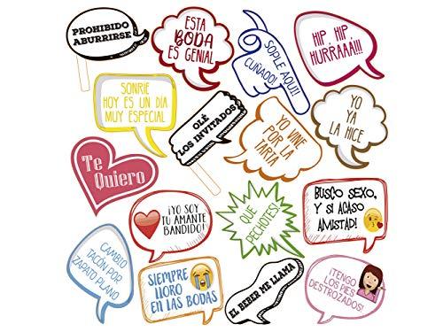 Atrezzo Photocall Frases Graciosas 100x100 cm   Atrezzos Decorativos para Photocalls  ...
