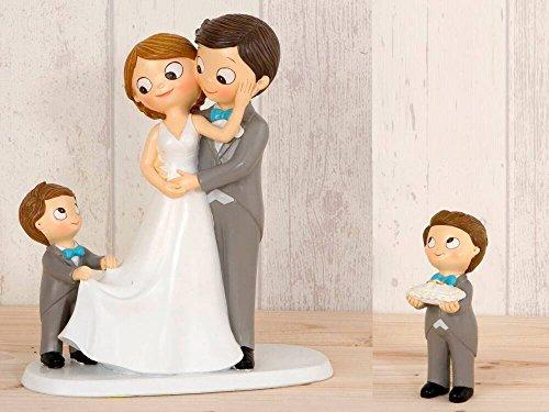 Momparler1870 Figura novios tarta con 2 niños