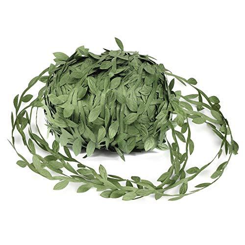 OOTSR Vides Artificiales, 262 pies Hojas de vid de plantas falsas simulación verde oliva...