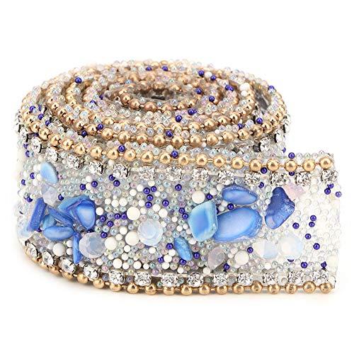 Cinta de diamantes de imitación, adornos de cuentas de diamantes de imitación, cristal...