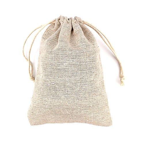 RUBY - 50 Bolsas de Lino 12cmx17cm, bolsitas de Tela, Saco arpillera, Bolsas para el...