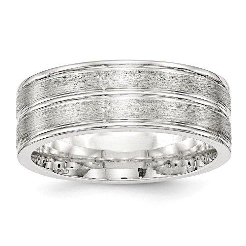 Diamond2Deal - Alianza de Boda para Mujer, Plata de Ley 925, 8 mm, cepillada, Talla 12