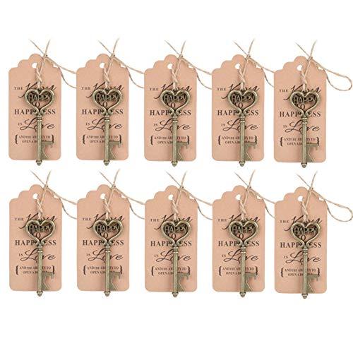 Decoración de bodas Abridor de botellas con llave vintage Regalo para invitados...