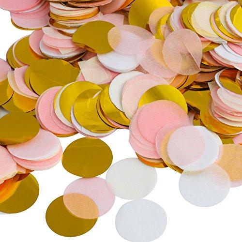 Kesote Multicolor Confeti de Papel de Forma Redonda 10000 Piezas de Decoración Confeti de...