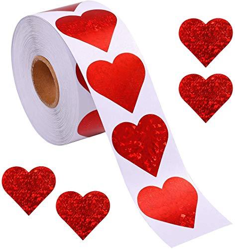 Pegatinas de corazón con diseño de corazón para el día de San Valentín,...