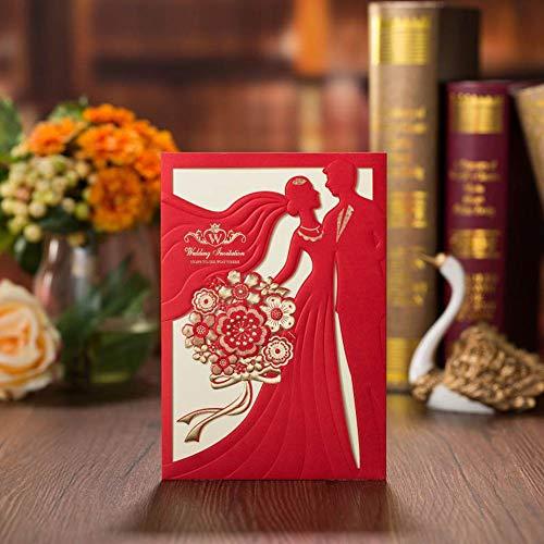 VStoy - Invitaciones de boda de papel láser, corte de invitación, para fiestas, bodas,...