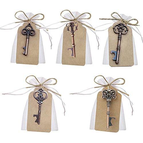 Llave abrebotellas para decoración de bolsas de recuerdos de boda de Awtlife, 50 piezas,...