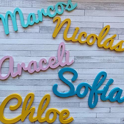 Nombres Decorativos Personalizados de madera para Decoración del Hogar, Comunión, Boda,...