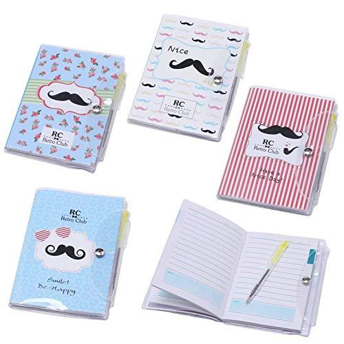 Lote de 20 Libretas Notas Pvc'Moustache' Con Bolígrafo Regalos de Bodas - Libretitas,...