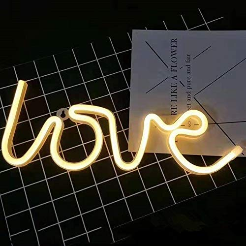 VUENICEE Neon Light Sign Love Night Light,Lámparas de Pared Interior, Iluminación de...
