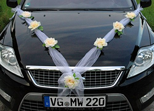 Guirnalda nupcial para el coche, novia, pareja, rosa, decoración, decoración para coche,...