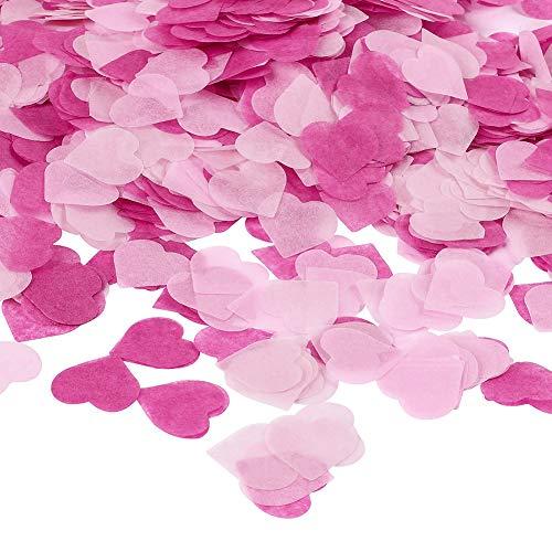 Ruiting Confeti Corazón,Confeti de Papel en Forma de Corazón Confeti Colorido...