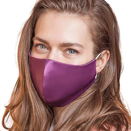 IDentity LNGR Mascarillas de seda con alambre de nariz satinado Reino Unido, máscara...