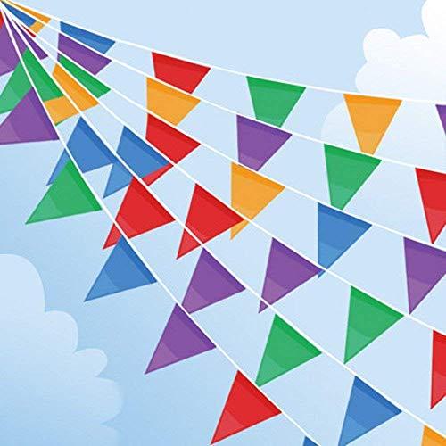 Joykey 100M Multicolor banderines 200 Banderas Nylon banderin Decoración para la Fiesta...