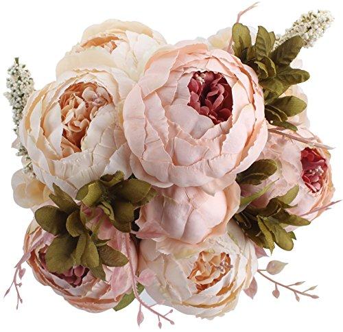 Peoxio Ramo de Peony as Artificiales . Flores de Seda para decoracin del hogar o Bodas, 1...