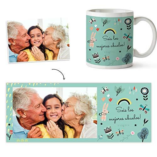 Fotoprix Taza Personalizada con Foto para los Abuelos   Regalo Original día de los...