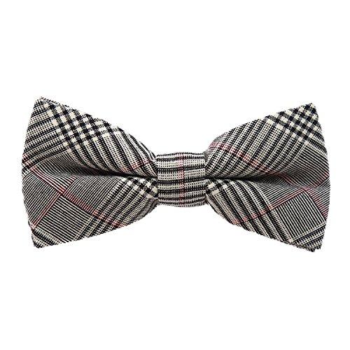 DonDon Pajarita de algodón para hombre 12 x 6 cm de tweed look ajustable y lista para...