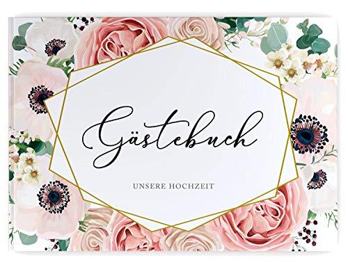 DeinWeddingshop - Libro de visitas para Boda, diseño Floral Bohemio, encuadernación para...