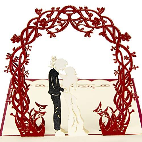 Tarjetas de invitación de boda, 3D, tarjetas de aniversario de boda, tarjetas de San...