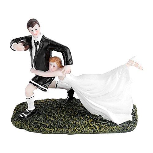 Yosoo Bonita y divertida decoración de tarta de boda para novia, pareja de rugby, amor,...
