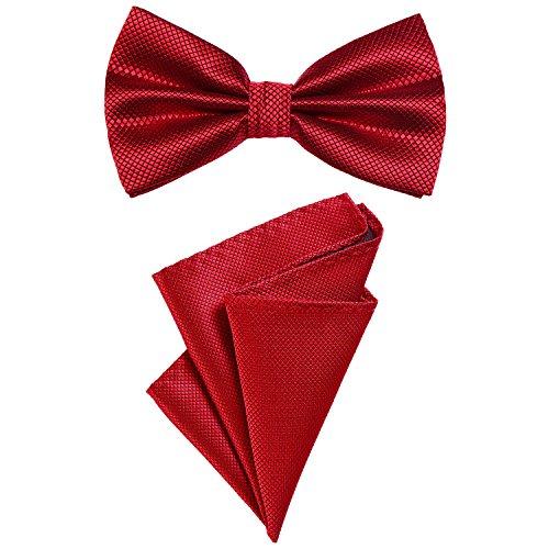 DonDon Set para hombres compuesto por un pañuelo y una pajarita a juego en color, unida y...