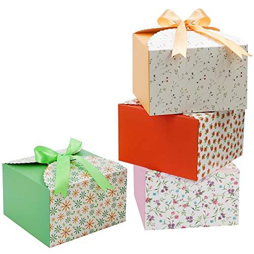 Belle Vous Set Cajitas Regalo Borde con Ondas (Pack de 20) Cajas Cuadradas con Cinta 14,7...