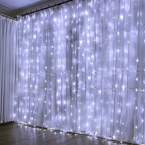 300 LED Cortina de Luces, Luces Led Decorativas. 8 Modos de Luz, Dormitorio Cadena de...