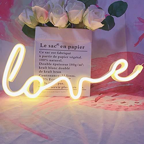 QiaoFei Letreros de Amor de neón Art Light LED Love Kids Letrero Decorativo para Carpas...